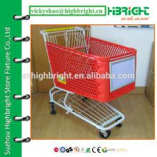 aluminium alloy shopping trolley front advertising board