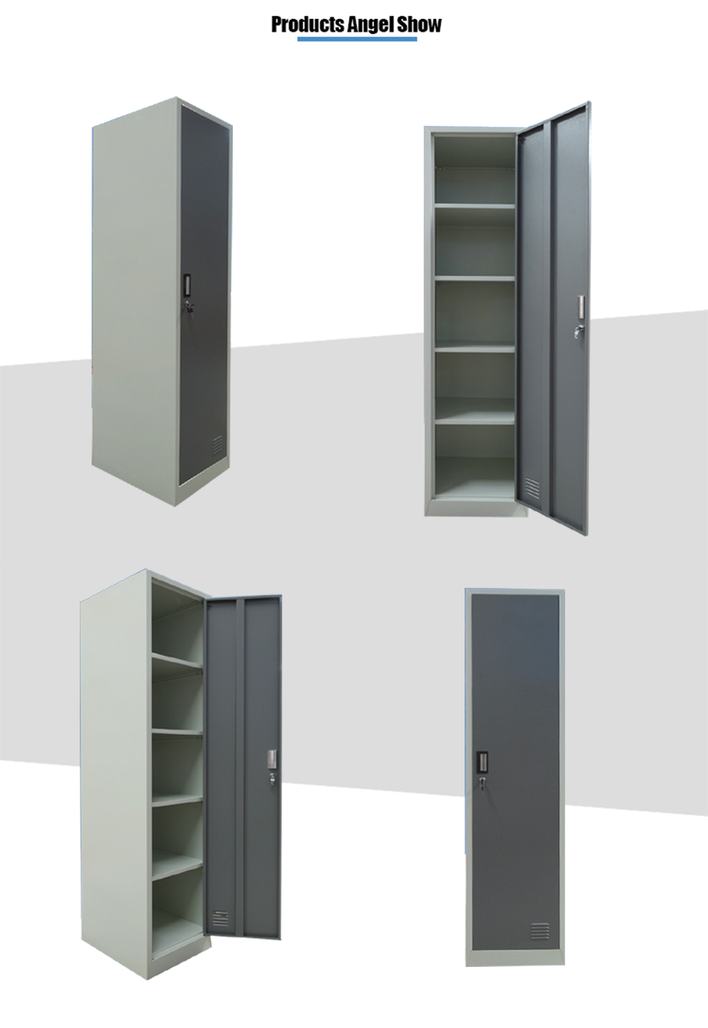 steel single door clothes wardrobe
