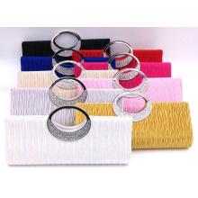 OEM Satin Fashion Upscale Crystal-Studded Handbag Purse Wallet