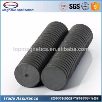"C8 Dia 3/4"" x 3/16"" Strong Flat Round Black Ferrite Disc Magnets Disc Ceramic Fridge Magnets"