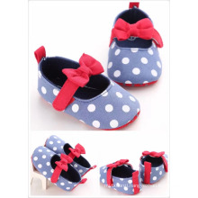 Wholesale cheap kid shoes baby girls outdoor soft flat child shoes Bow-knot Dot Casual newborn shoes Wholesale cheap kid shoes baby girls outdoor soft flat child shoes Bow-knot Dot Casual newborn shoes