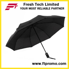 Полноцветная печать Автоматический открывающийся складной зонтик для индивидуального использования