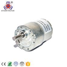9В низкий rpm DC мотор с редуктором 37мм
