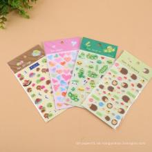 MOQ 500 umweltfreundliches, wasserdichtes, ölbeständiges, individuelles Puffy Sticker Sheet