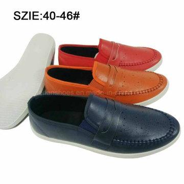 Слип новый стиль мужские на Шовный дышащий PU туфли (MP16721-19)