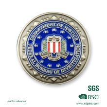 Kundengebundene Blumen-Logo-bundesstaatliche weiche Email-Andenken-Münze