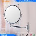 Espejo de pared de maquillaje decorativo de aumento 3X de latón