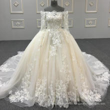 Real Großhandel Luxus Party Kleid Bild Organza Prom Kleid geschwollenen Ballkleider