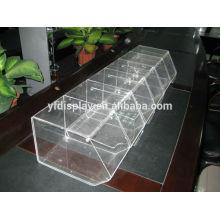 Acryl klar Hochwertige billige Luxus-Display-Box mit Slot Manufacture