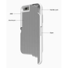 Aço inoxidável selfie stick telefone shell caso com extensível monopião caso