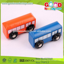 2015New Item Colorful Wooden Bus DIY Car Toy