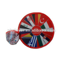 20-25cm flying folding frisbee with pouch