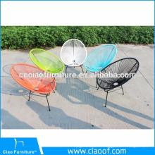 Chaise extérieure d'oeufs d'osier de jardin en osier de meubles populaires
