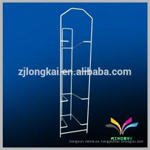 Estante de la botella del galón de los estantes de la poder del hierro labrado del almacenaje del metal del blanco 4 de la alta calidad