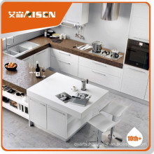 100% oak wood veneer kitchen cabinet
