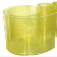 Feuille de polyuréthane jaune transparent
