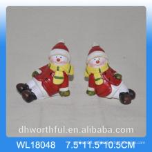 Muñeco de nieve de cerámica al por mayor 2016 para la decoración de la Navidad