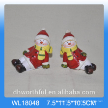Wholesale 2016 ceramic snowman for christmas decoration