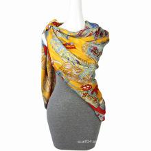 Bufanda de la bufanda de la mariposa de la gasa de la impresión de la manera