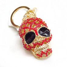 Рекламные дешевые Key Ring пользовательских кристалл черепа брелок оптовые пункты подарка