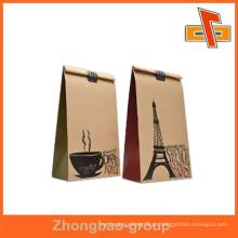 Guangzhou fornecedor de calor de alta qualidade selo à prova de umidade papel saco de café material com design de café para feijão embalagem