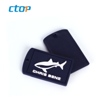 High Quality Brand Name PVC Patch Luggage Bag Silicone Tag Rubber Label Bag Logo Label