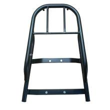 Suporte para caixa de ferramentas de extensão de assento traseiro de motocicleta em aço preto de alta qualidade