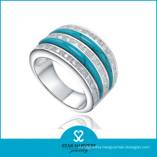 New Come Channel Setting 925 Silver Jewelry Ring (R-0305)