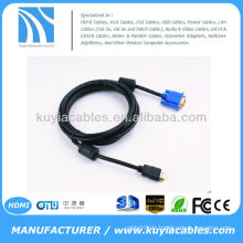 HDMI GOLD MÄNNLICH ZU VGA HD-15 MALE Kabel 6FT 1.8M 1080P Blau HDMI-VGA MM