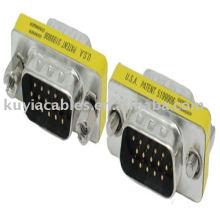 VGA HD15 Pin адаптера между мужчинами конвертер