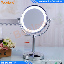 Hotel Standing Table Vanity Magnifying Battery Operated LED Mirror