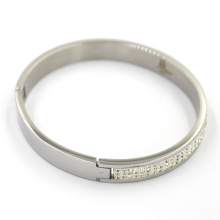 Classic Wihte Crystal Jewelry High Polishing Stainless Steel Bracelet