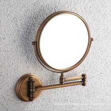 Espejo de baño de latón antiguo aprobado por CE con soporte de pared