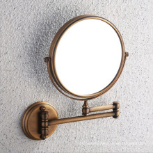 CE Approved Antique Brass Bathroom Mirror with Wall Mount