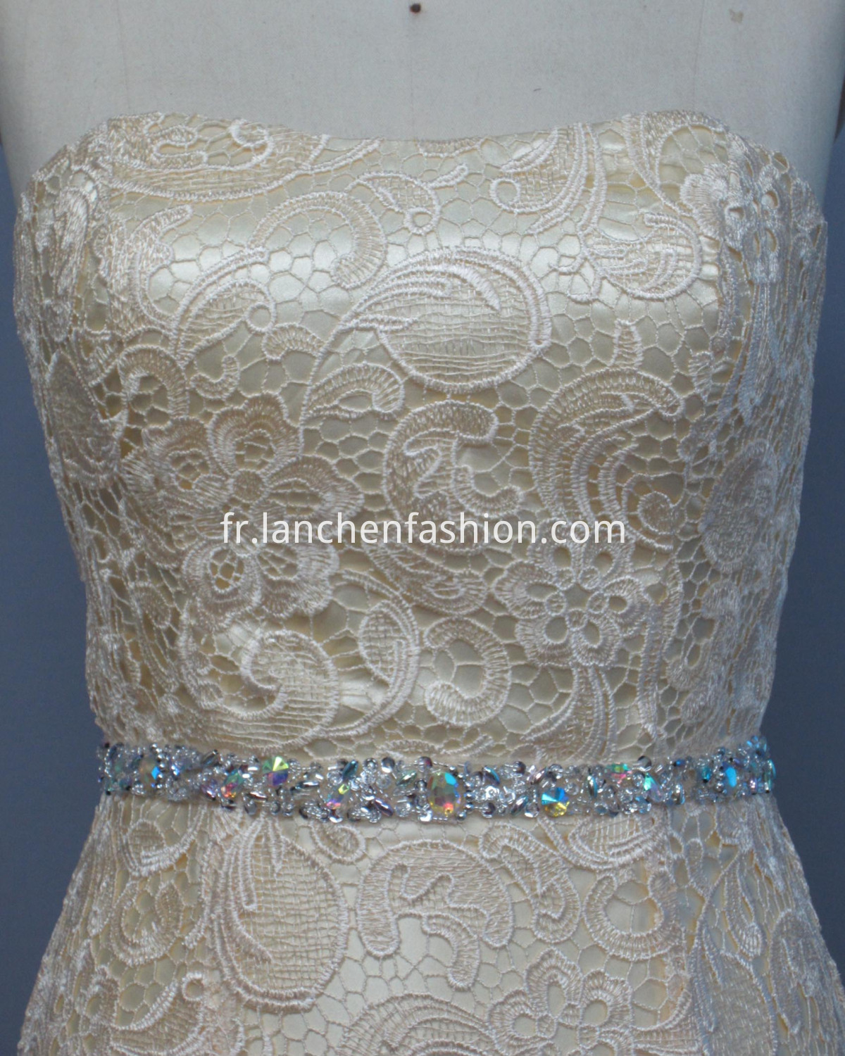Formal Lace Dresses Ivory