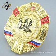 Adaptez l'épinglette d'insigne militaire d'émail plaqué par or de la Russie