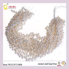 Hilos perla agua dulce forma de arroz blanco 5-6mm
