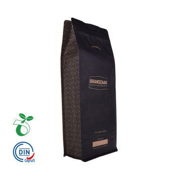 Food Grade Biodegradable Black Kraft Paper Packaging Bag