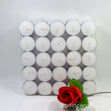 Tea Lights 4 candele al lumino bianco non profumate