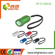 Factory Bulk Sale 2 * CR2032 Button Cell Usé Cheap Metal Kids 6 led Mini Flashlight