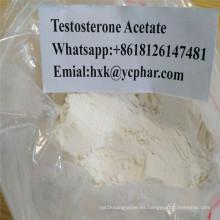 Polvo crudo esteroide del acetato de la testosterona de la prueba de las hormonas del edificio del músculo inyectable