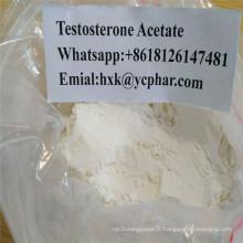 Poudre crue stéroïde d'acétate de testostérone d'hormones de bâtiment de muscle injectable