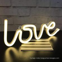 3d led flex love RGB neon letter sign custom led neon sign letter wedding events