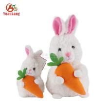 Fábrica ICTI brinquedo macio personalizado atacado recheado de pelúcia branco coelho coelhinho da páscoa brinquedo