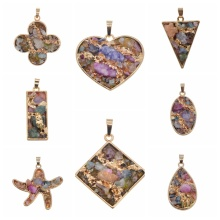 Natural Drusy Crystal Gemstone Women Pendant