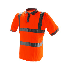 Red Security Reflective Safety POLO Shirt