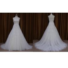 Без Бретелек Из Бисера Аппликация Из Органзы Свадебное Платье
