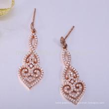 Boucle d'oreille en zircon style 925 argent sterling nouveaux designs Boucle d'oreille jhumka en or