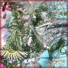 Печать шелковая саржа Ткань шелковая саржа шарф