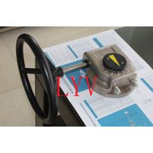 Einfach-Schwenk-Schneckengetriebe mit Stellantrieb von Ventilen